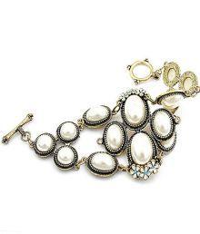 Cinderella Antique Look White Pearl Stone Bracelet