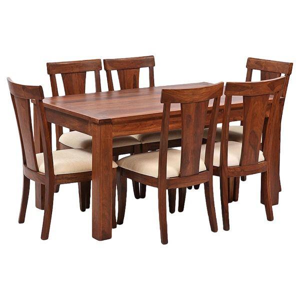 Ethnic India Art Lisbon 6 Seater Sheesham Wood Dining Set With Table Buy Ethnic India Art