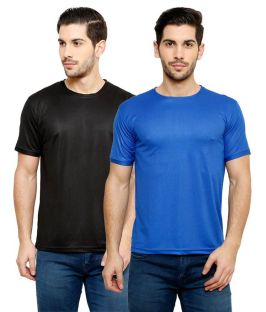 Snapdeal Offer- Buy Grand Bear Dry-Fit Fitness T-Shirt Combo (Black, Royal Blue) At Rs 295 Only