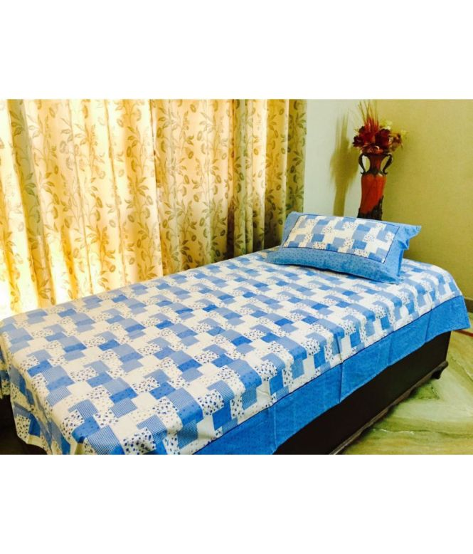 Ptr Global Single Cotton Multicolor Printed Bed Sheet