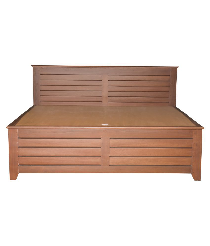 solid wood king size double bed teak
