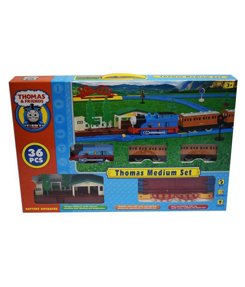 crazy toys Thomas and Friends Electric Track Train Set with Platform (Multicolour)