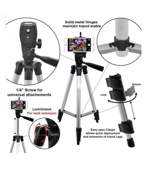 Camera Tripod 3110 Stand With 3-Way Head for Digital Camera , Camcorder with mobile Phone holder. Price in India- Buy Camera Tripod 3110 Stand With 3-Way Head for Digital Camera , Camcorder