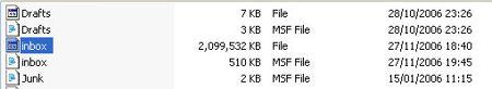 קובץ Inbox בגודל עצום