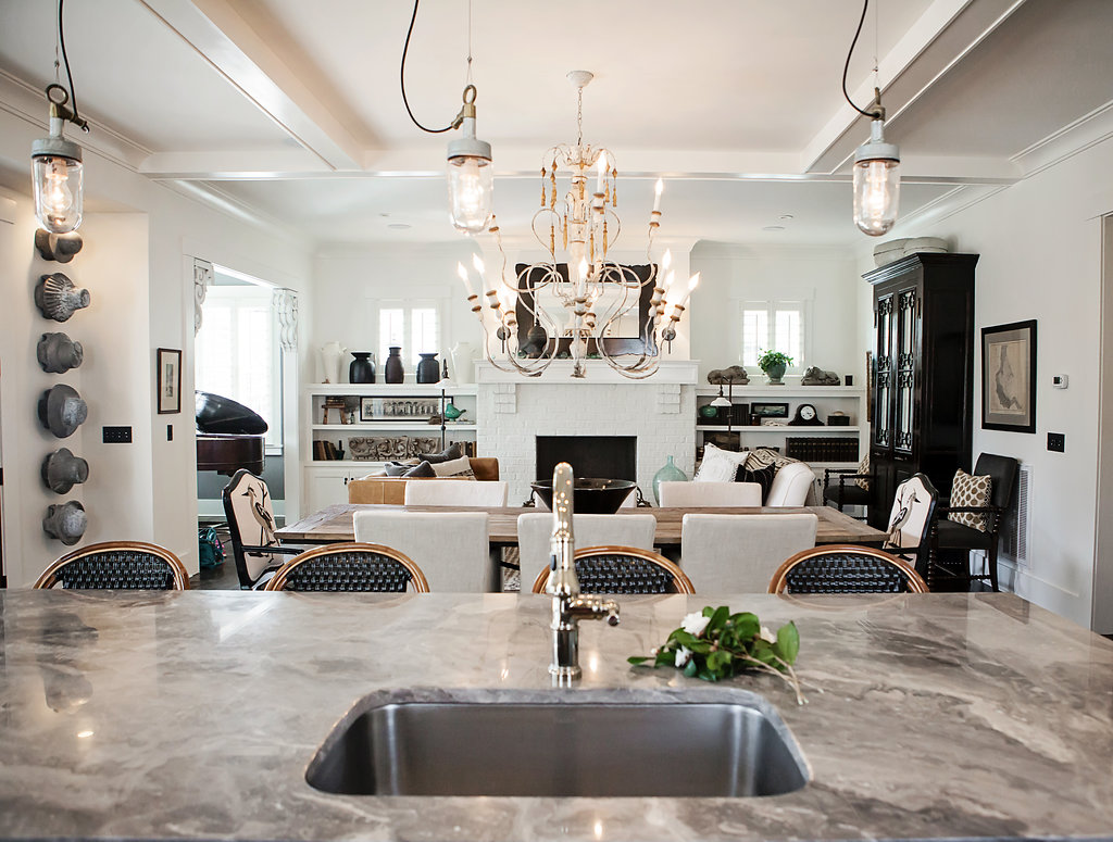 From Island Into Great Room N2 Granite