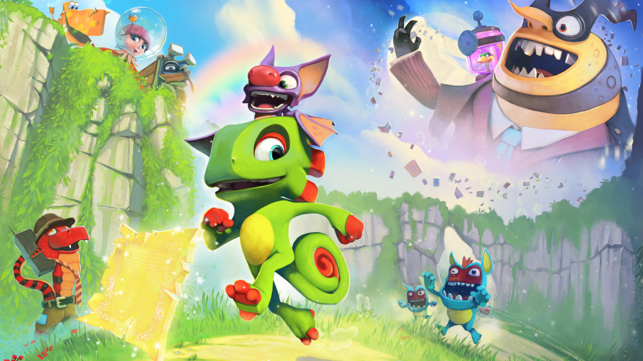 Gameplay di Yooka-Laylee
