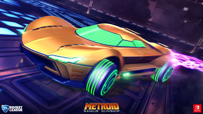 Samus e Mario in Rocket League