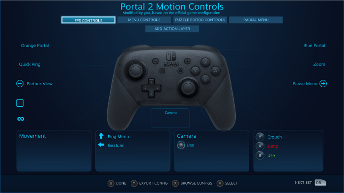 Nintendo Switch Pro Controller Compatibile con Steam