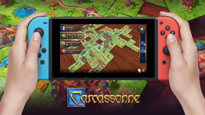 Asmodee Annuncia Carcassonne per Nintendo Switch
