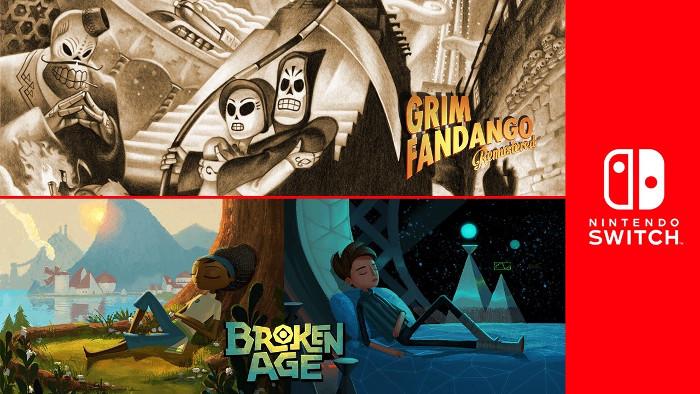 Broken Age e Grim Fandango Remastered Arriveranno su Nintendo Switch
