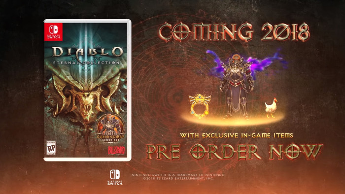 Diablo III: Eternal Collection Arriverà su Nintendo Switch nel 2018