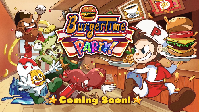 BurgerTime Party Arriva l'8 Ottobre su Nintendo Switch