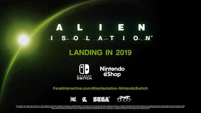 Alien Isolation Arriva su Nintendo Switch