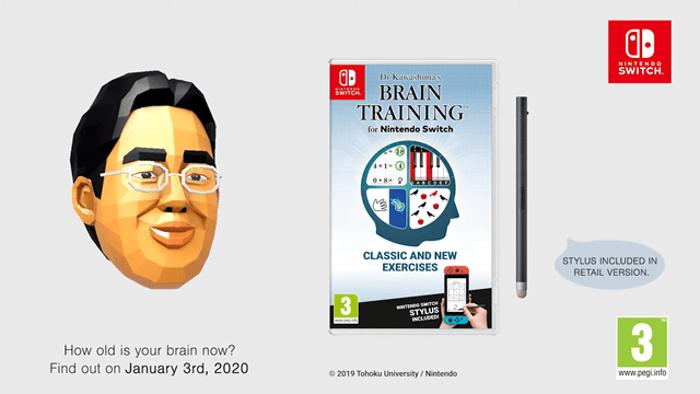 Dr. Kawashima's Brain Training for Nintendo Switch Confermato per L'Europa