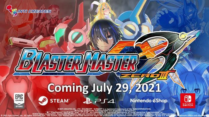 Blaster Master Zero 3 Arriverà a Luglio su Nintendo Switch