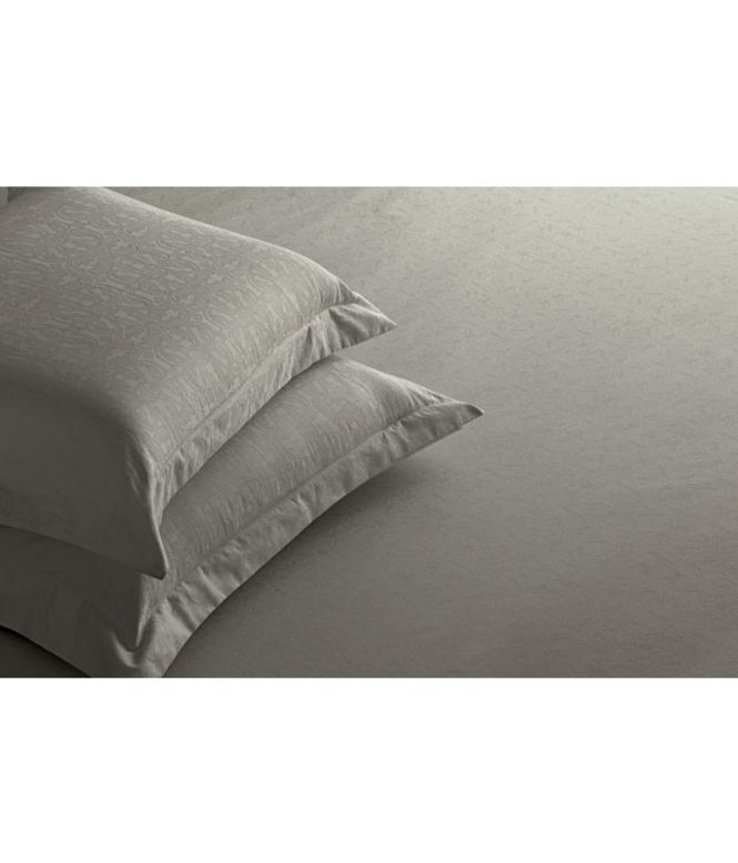 St Cloud Beige Cotton Bedsheet With Pillow Covers