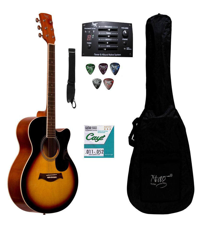 Xtag Semi Acoustic Electric guitar with inbuilt equilizer ...
