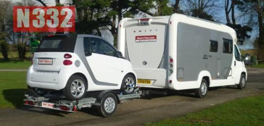 A vehicle must be carried on an approved trailer.