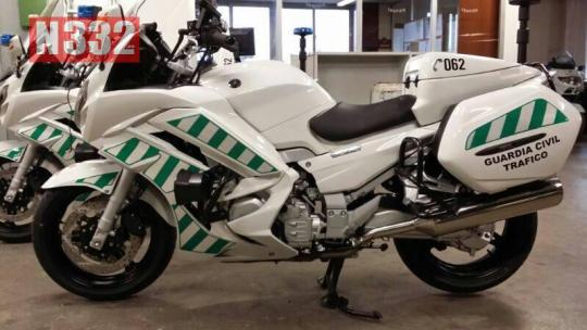 Police motorcycles are professionally adapted as single seat vehicles.