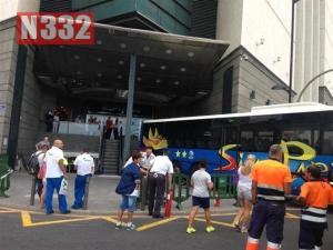 Runaway Bus Goes on Shopping Trip