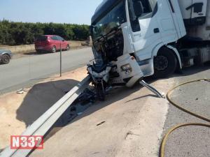 Traffic Patrol Bike Crushed by Truck