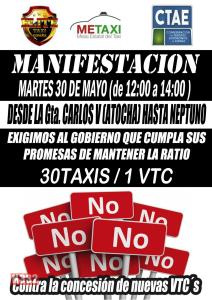 Taxi Protest will Reach Orihuela Costa on Tuesday