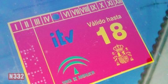 ITV Sticker Colours and Placement     N332 es - Driving In Spain