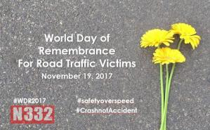 Today is the World Day of Remembrance for Road Traffic Victims