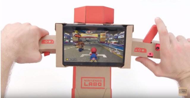 El volante de Labo sirve para Mario Kart 8 Deluxe