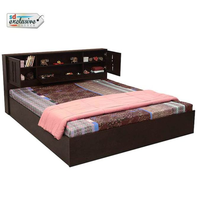 Home Lucas Queen Size Hydraulic Storage Bed