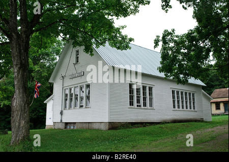 An old one-room schoolhouse in Alberta, Canada Stock Photo ...