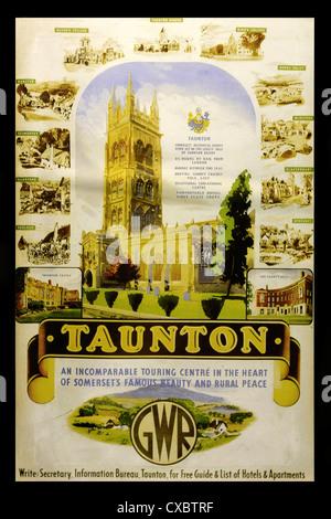 Vintage travel poster advertising Great Western Railway