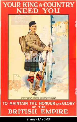 British First World War Recruitment Poster Stock Photo