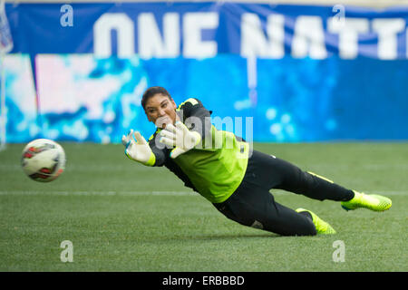 Hope Solo, goalkeeper of the US women's national soccer ...