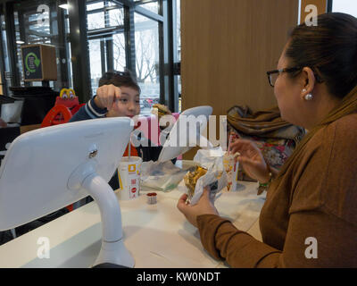 McDONALDS FAST FOOD RESTAURANT BREAKFAST MENU Stock Photo ...