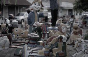 Street Funfair In Laos