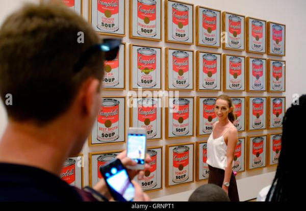 Andy Warhol Campbells Soup Cans Stock Photos & Andy Warhol ...