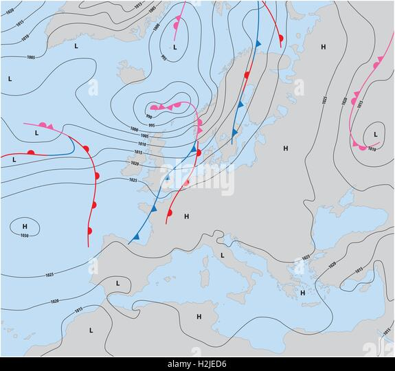 Italy Map Fronts Weather