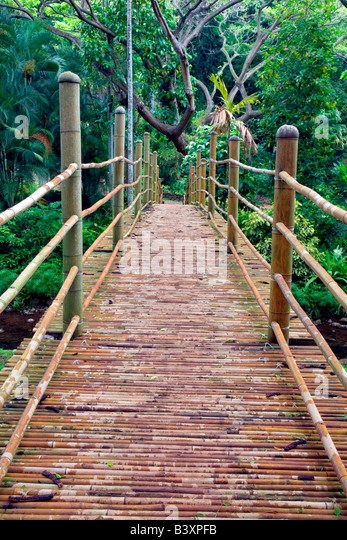 bamboo garden bridge Bamboo Bridge Stock Photos & Bamboo Bridge Stock Images
