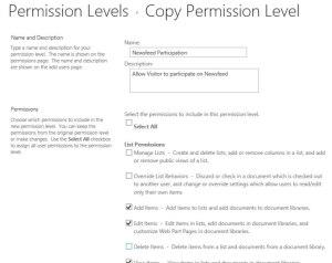 Step 3 Select Base Permissions