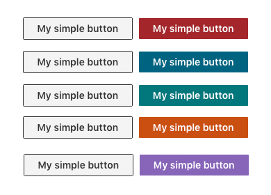 A simple HTML Button with different themes