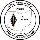 AAARC Logo displaying Ohio map and repeater frequency 147.105