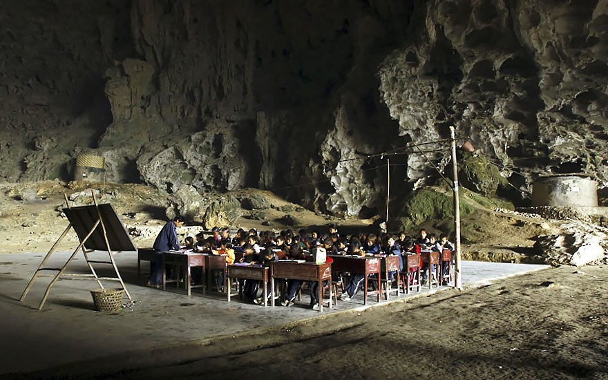 Пещерные люди в современности