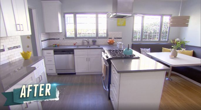 Drew Scott's mismatched kitchen flooring didn't impress the guest judges.