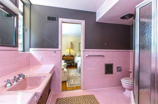 update 1950s pink bathroom