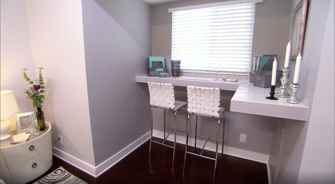 Christina Anstead didn't like the height of Team Drew's desk, but a built-in office space still adds value to a home.