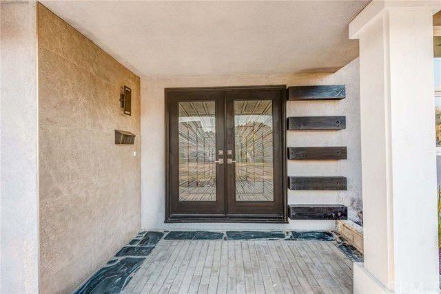 Fancy front door with leaded glass