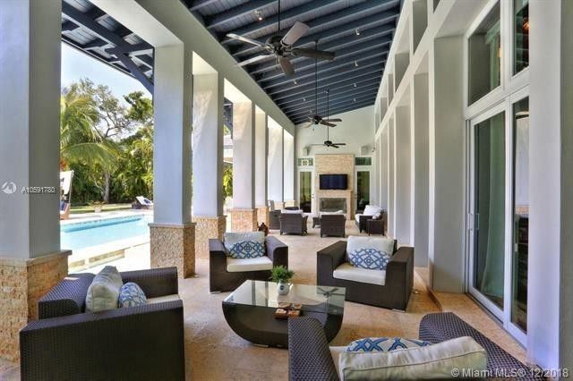 Covered outdoor space and pool
