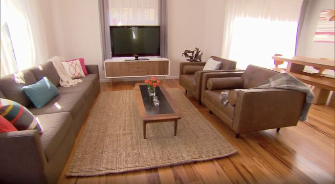 These woods floors made Jonathan Scott's house look very stylish.