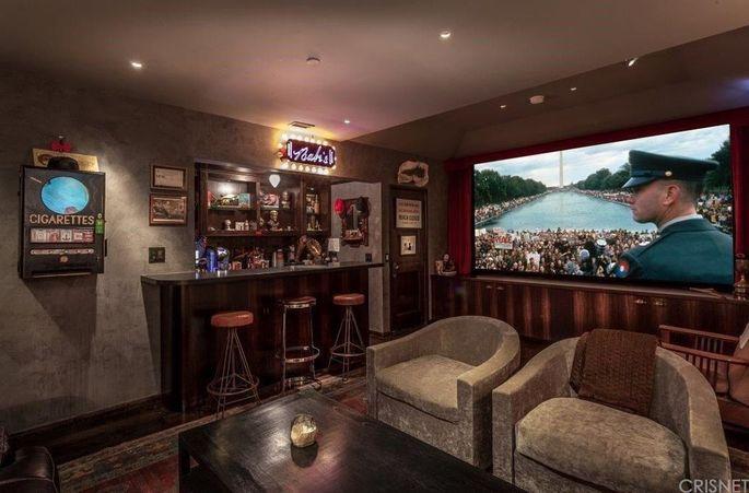 Charlie Sheen's bedroom. Yes. Bedroom.